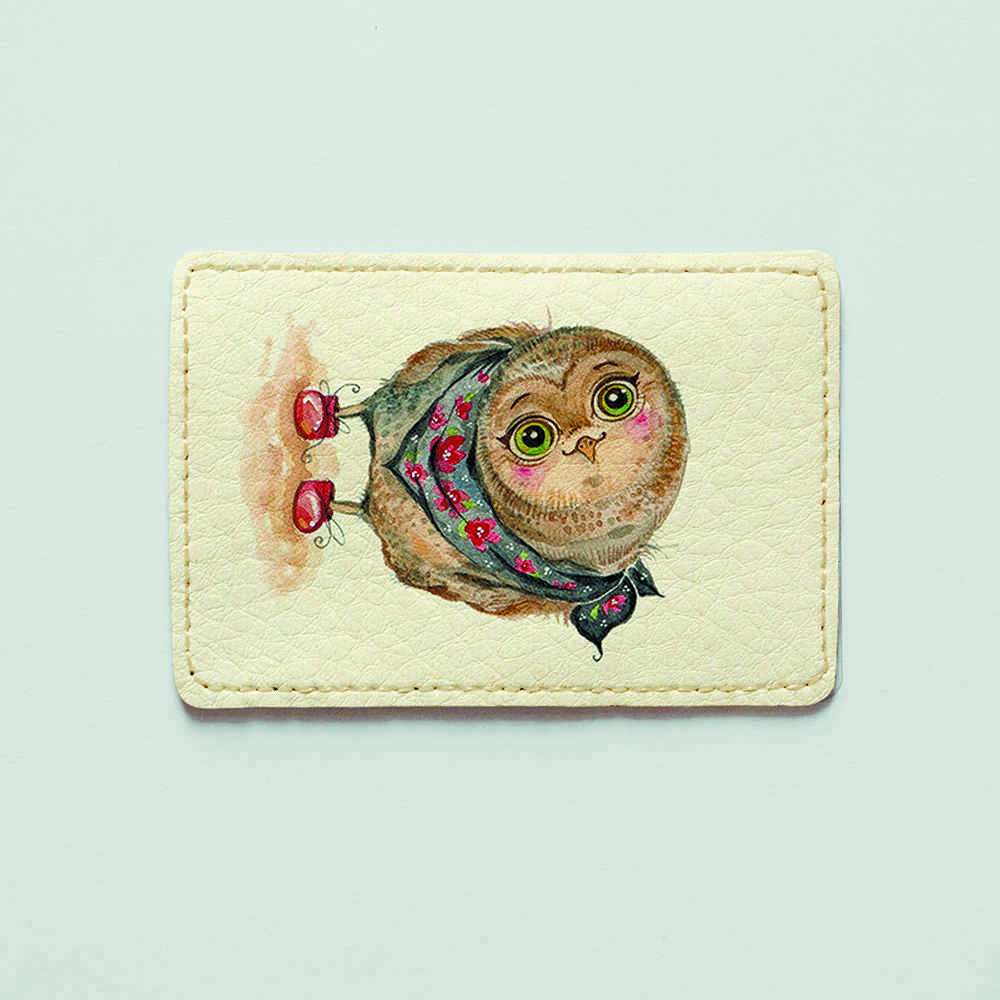 Картхолдер v.1.0. Fisher Gifts  979 Любопытная совушка (эко-кожа)