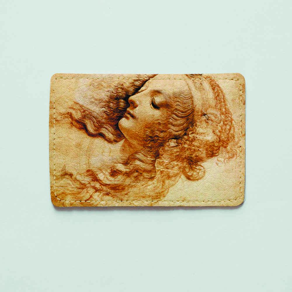 Картхолдер Fisher Gifts 993 Леонардо да Винчи Голова женщины (эко-кожа)