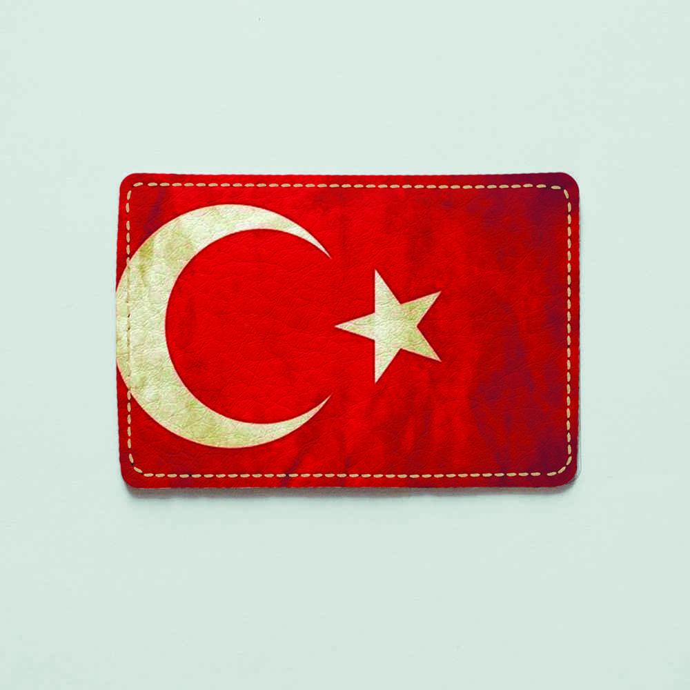 Картхолдер v.1.0. Fisher Gifts  996 Флаг Турции old 2 (эко-кожа)