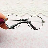Очки для Кукол и Игрушек 7.5*2.4 см СЕРЕБРО, фото 1