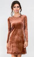 Платье велюр 43762961-3
