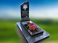 Памятник одинарный Крест волна