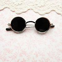 Очки мини для куклы, солнцезащитные, серебро - 6*2 см