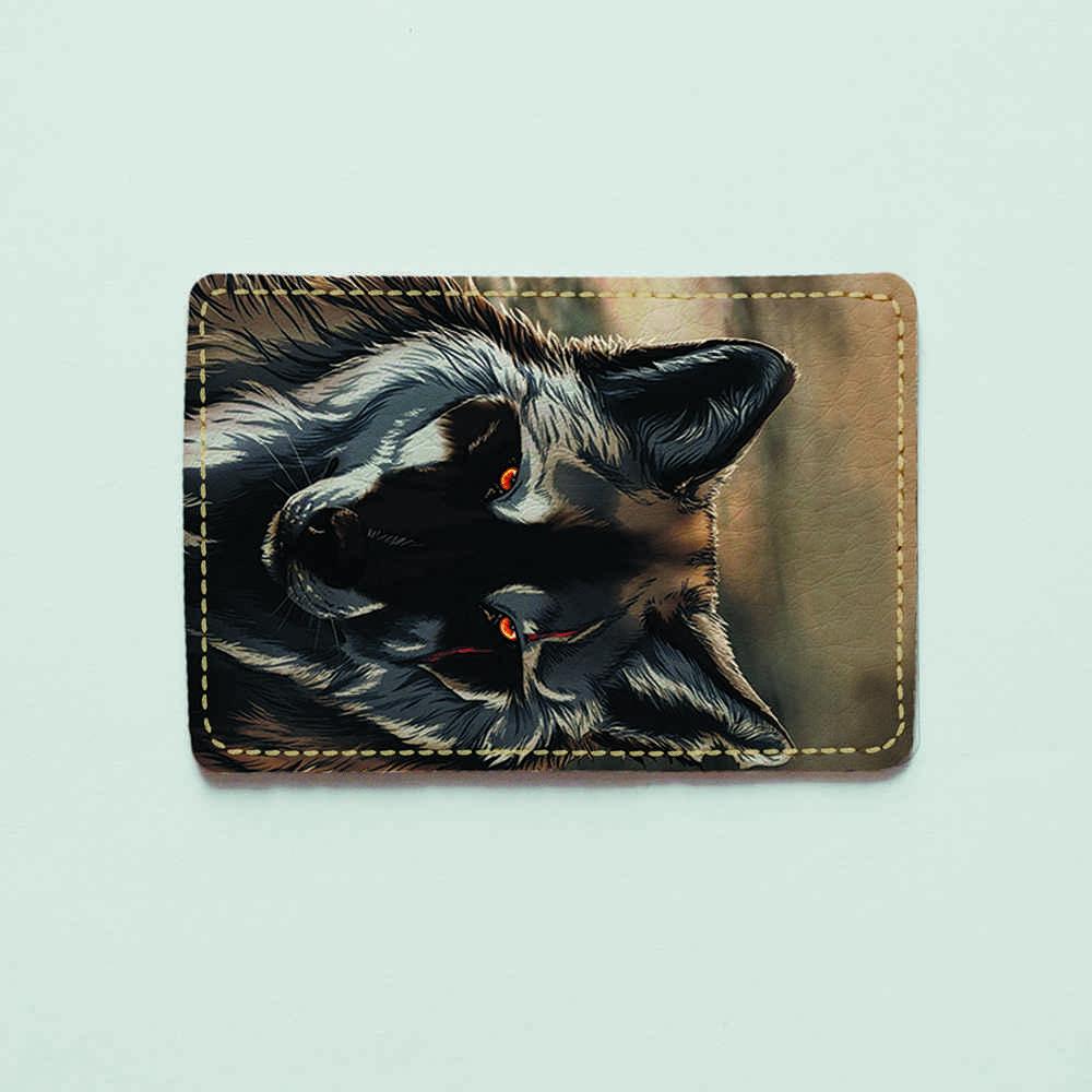 Картхолдер 203 Волк в пустыне (эко-кожа)