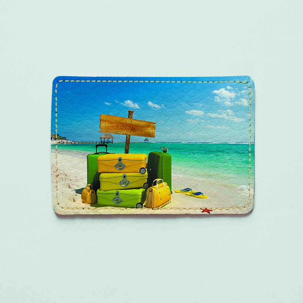Картхолдер 660 Пляжные чемоданы (эко-кожа)