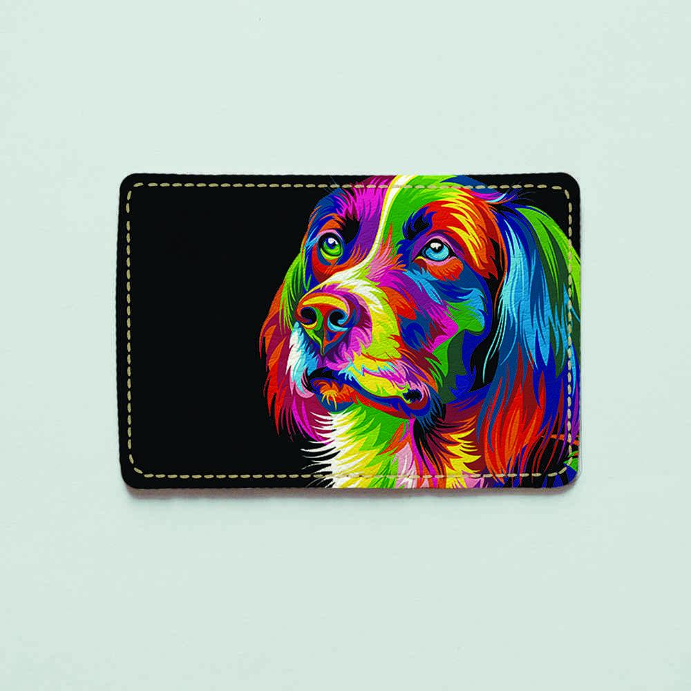 Картхолдер 718 Разноцветный пес (эко-кожа)