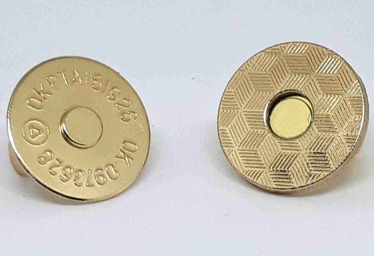 Кнопка магнитная 18 мм (100 шт) золото