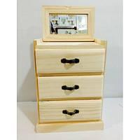Комодик  для росписи или декупажа (15*9*21 см.) деревянный