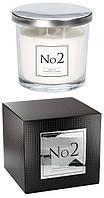 Аромасвеча смолистый аромат амбры и цветов пачули с двумя фитилями Bispol 10 см (snp100-002)