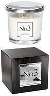 Аромасвеча пион, жасмин, фиалка с акцентом сладкой сливы с двумя фитилями Bispol 10 см (snp100-003)