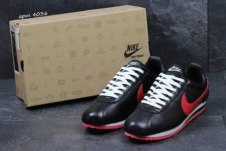 Подростковые кроссовки NIke Cortez черные с красным 36р, фото 2