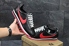 Подростковые кроссовки NIke Cortez черные с красным 36р, фото 3