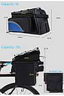Сумка на багажник синя, фото 3