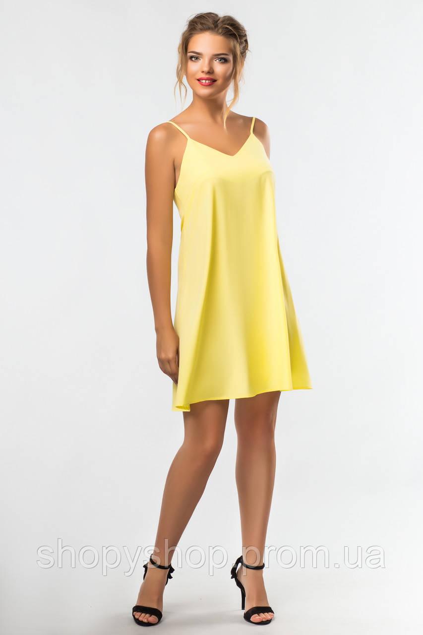 f9563b0d340 Желтое Платье с Бантом на Спине — в Категории