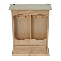 КЛЮЧНИЦА для росписи или декупажа (19*6*25 см) деревянная