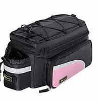 Сумка на багажник розовая