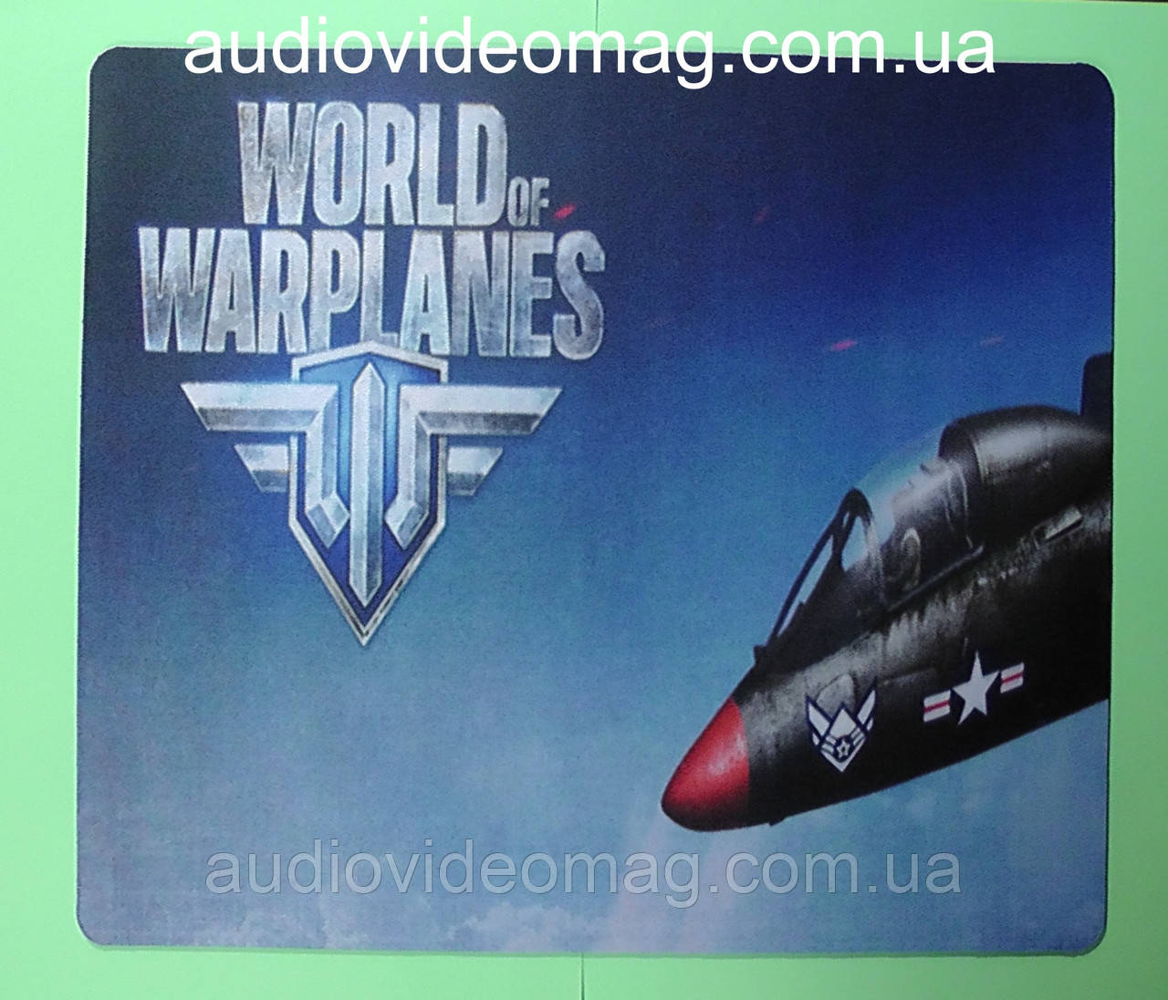 "Коврик ""World of Warplanes"" для компьютерной мышки, размер 25х29 см."