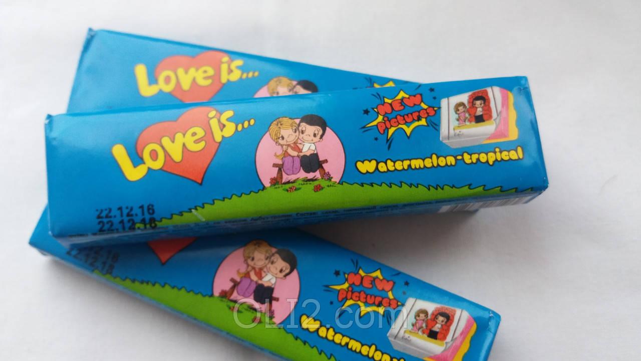 Жвачки Love is  Арбуз+Тропик - жевательная конфета лове ис