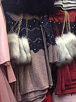 Красивое  платье для с меховой сумкой  оптом