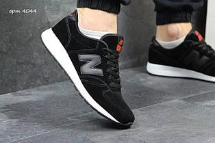Чоловічі кросівки New Balance 420 замшеві,чорно-білі 44р
