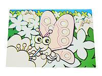 Коврик для рисования водой Fissman БАБОЧКИ 29х21см (пластик)