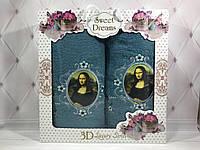 Подарочный набор полотенец Sweet Dreams Luxury 2в1 (баня+лицо) №1-2