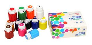 Набір акрилових фарб для декору Rosa Start, 12 кольорів 20 мл. глянцеві 90747258
