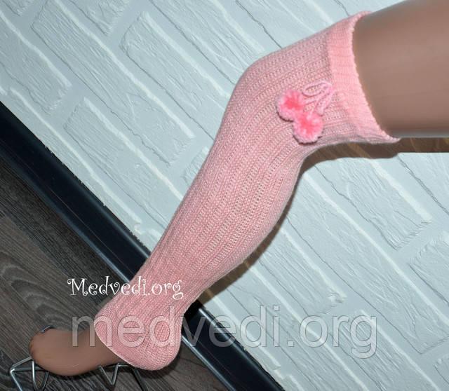 Розовые женские гетры