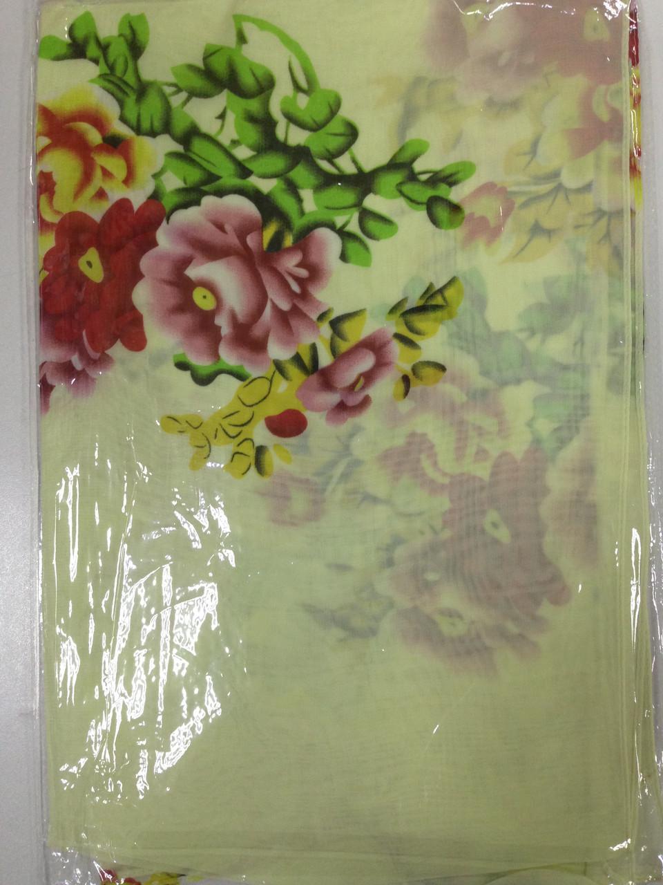 Шифоновый шарф с рисунком  150*50