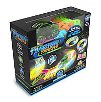 Фирменный гибкий трек и 1 машинка, Magic Tracks, 11' Twister Tracks Light-Up Set, Mindscope из США