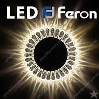 Светильник встраиваемый с LED подсветкой Feron 7301 под лампу Mr16
