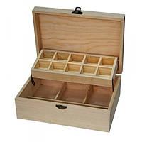 Шкатулка для рукоделия (17*24,5*9 см.) деревянная