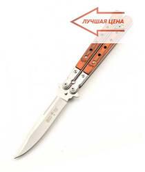Нож балисонг из деревянной рукоятью + эксклюзивные фото