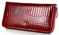 Женский кожаный кошелек клатч на молнии ST большой натуральная кожа, фото 1