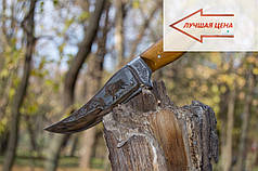 Нож охотничий Хантер ручной работы в комплекте кожаный чехол и экспертиза, + эксклюзивные фото