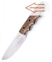 Нож для охоты и рыбалки Днепр, рукоять из дерева, + кожаный чехол с  эксклюзивными фотографиями