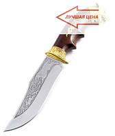 Нож охотничий Волк ручная работа, производство Украина + кожаный чехол и паспорт