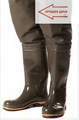 Рибальські чоботи заброди ПСКОВ, оригінал, виконані з якісного ПВХ