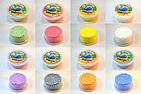 Шариковый пластилин 8 цветов легкий Foam putty 50х25 маленький