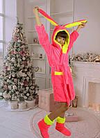 Комплект халат детский с сапожками Заяц № 001 (рош)
