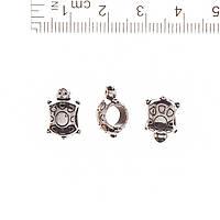 Фурнитура Черепашка Бусина Вставка металл d-5mm
