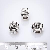 Фурн Вставка Четырехлистних (d-4мм) 12х10мм серебрист.
