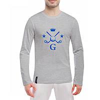 Лонгслив мужской - Король гольфа, отличный подарок купить со скидкой, недорого
