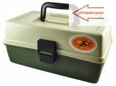 Ящик для снастей на две полочки, подарок органайзер рыбаку, компактный и удобный при транспортировке