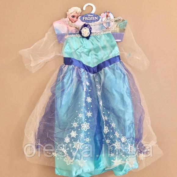 Новогоднее платье для девочки Эльза на 4-6 лет