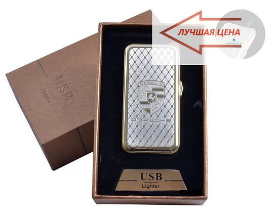 """USB + газовая зажигалка в подарочной упаковке (спираль накаливания, острое пламя) """"Porsche"""", фото 2"""