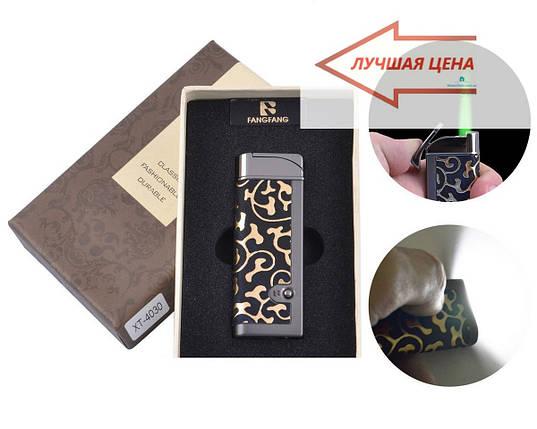 Зажигалка в подарочной коробке FANGFANG Турбо пламя + фонарик, фото 2