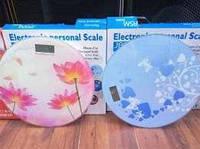 Цифровые напольные весы круглые с рисунками до 180 кг 2003A