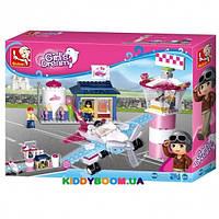 Конструктор Розовая мечта: Аэропорт Sluban M38-B0608