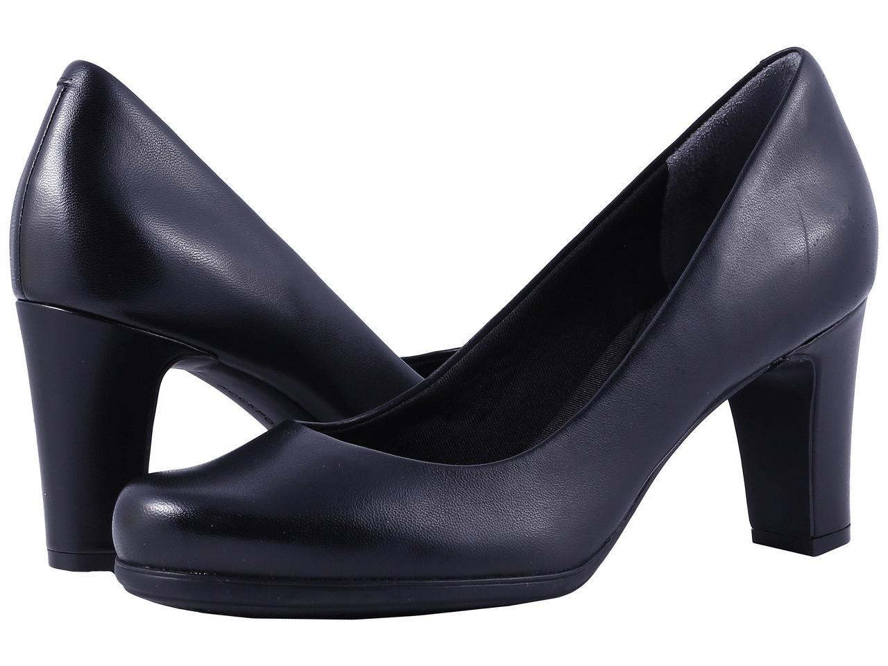Туфли на каблуке (Оригинал) Rockport Total Motion 75mm Plain Pump Black Leather